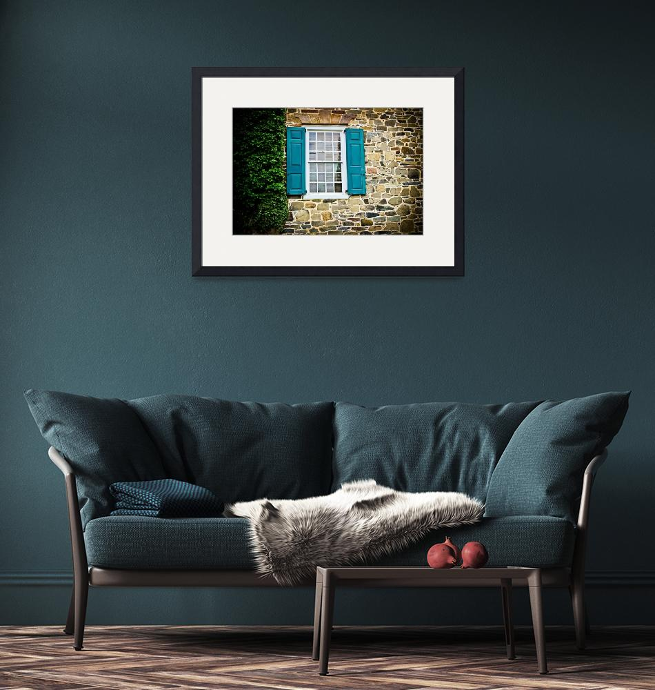 """""""Turquoise Shutters""""  (2013) by ColleenKammerer"""
