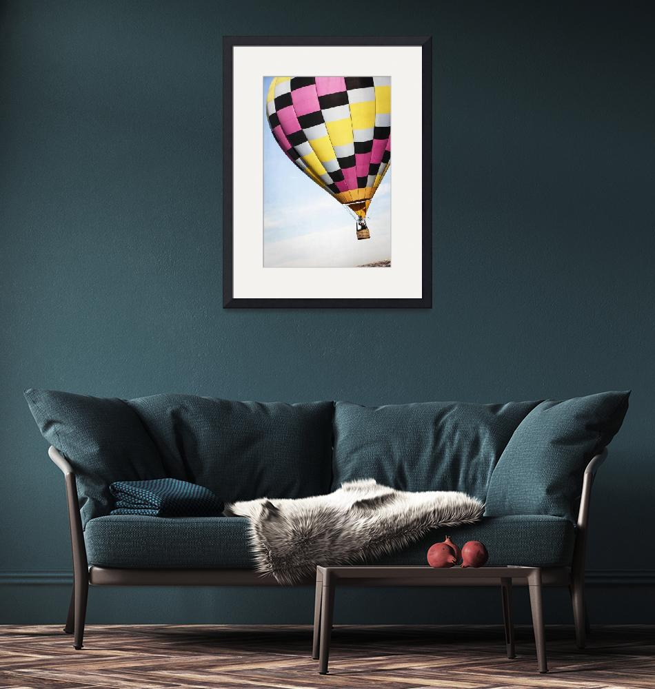 """""""Hot Air Balloon with a Checkered Past""""  (2013) by lillisphotography"""