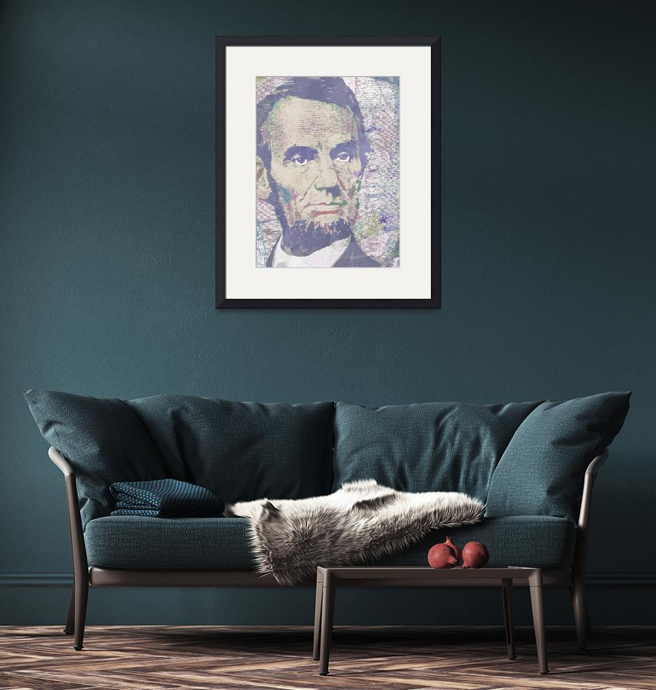 """""""Lincoln Reimagined Vertical""""  (2014) by RubinoFineArt"""