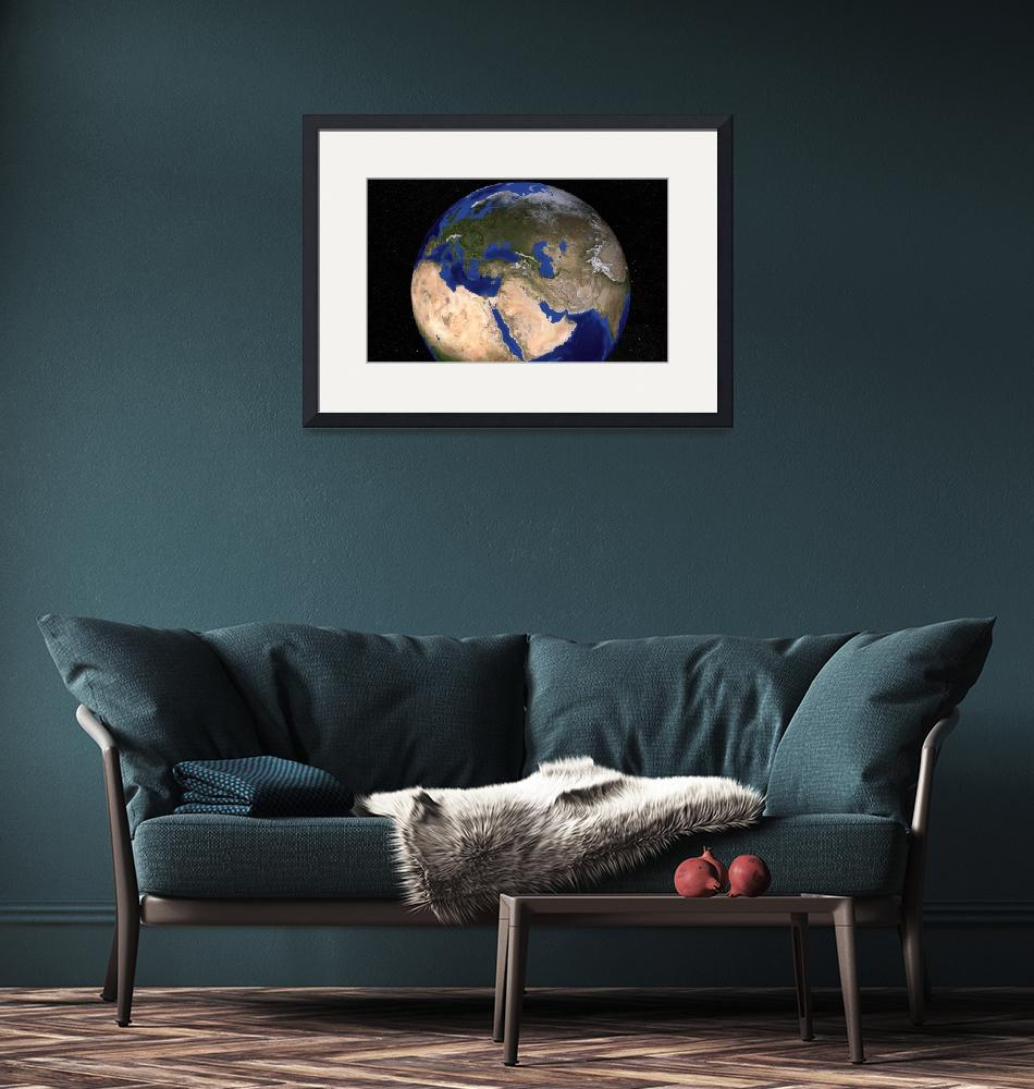 """""""Blue Marble Earth showing the Middle East.""""  by stocktrekimages"""
