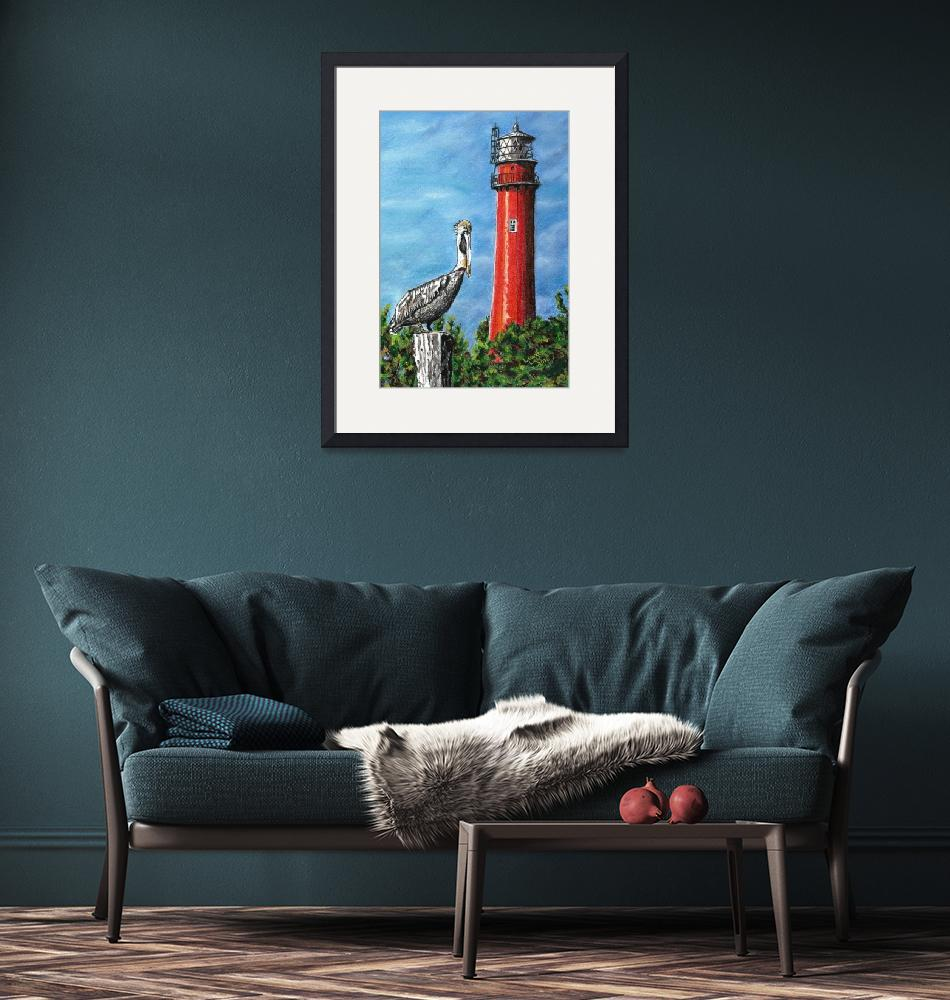"""""""Jupiter Inlet Lighthouse""""  (2016) by LauraLeeArt"""