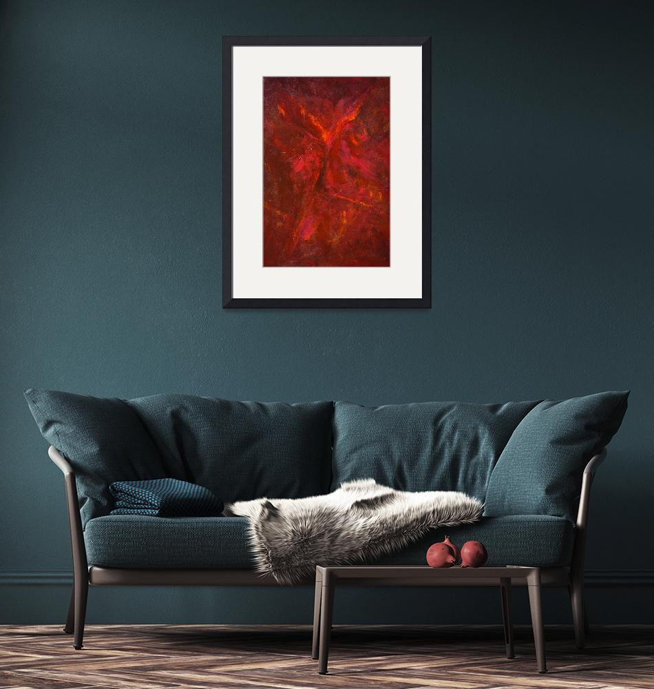 """""""Red Abstract #2"""" (2006) by redrockpoet"""