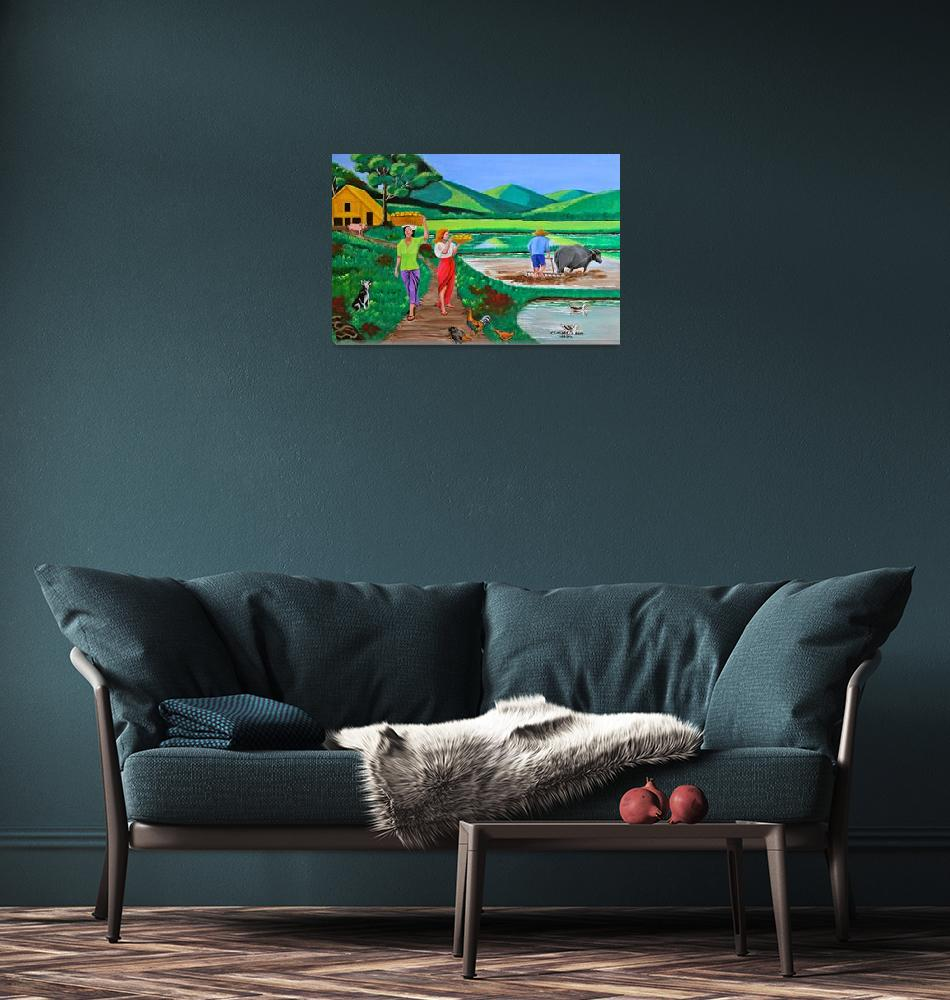 """""""One Beautiful Morning in the Farm""""  (2012) by cyrilmaza"""