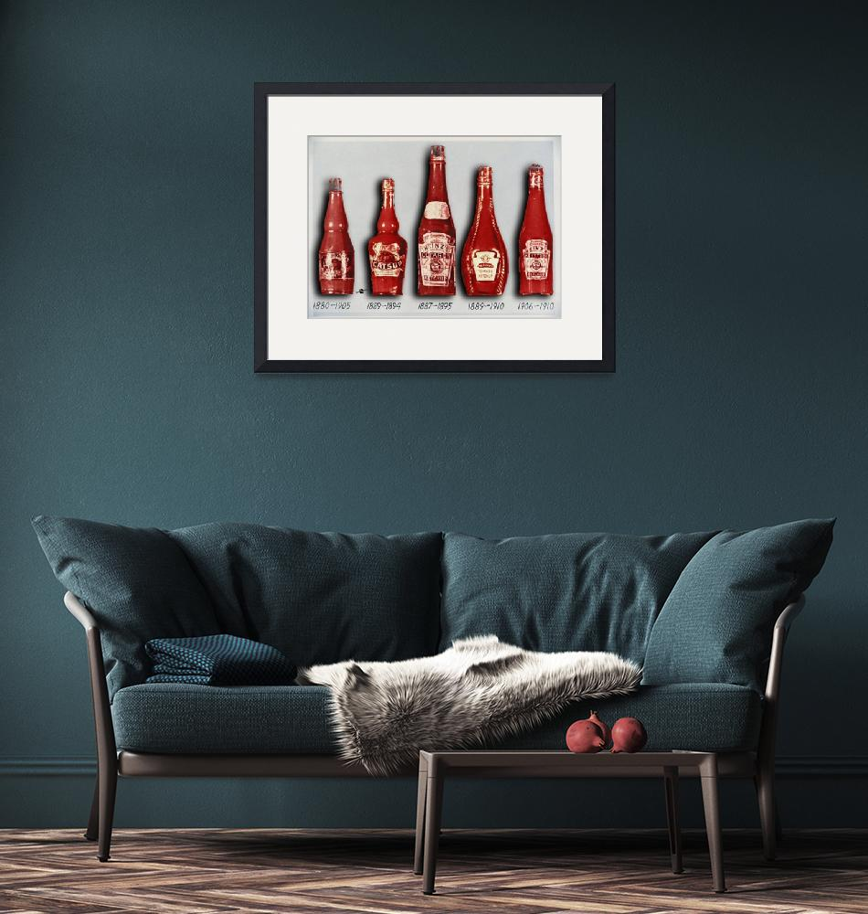 """""""Heinz Tomato Ketchup Vintage, Evolution To 1910""""  (2017) by RubinoFineArt"""