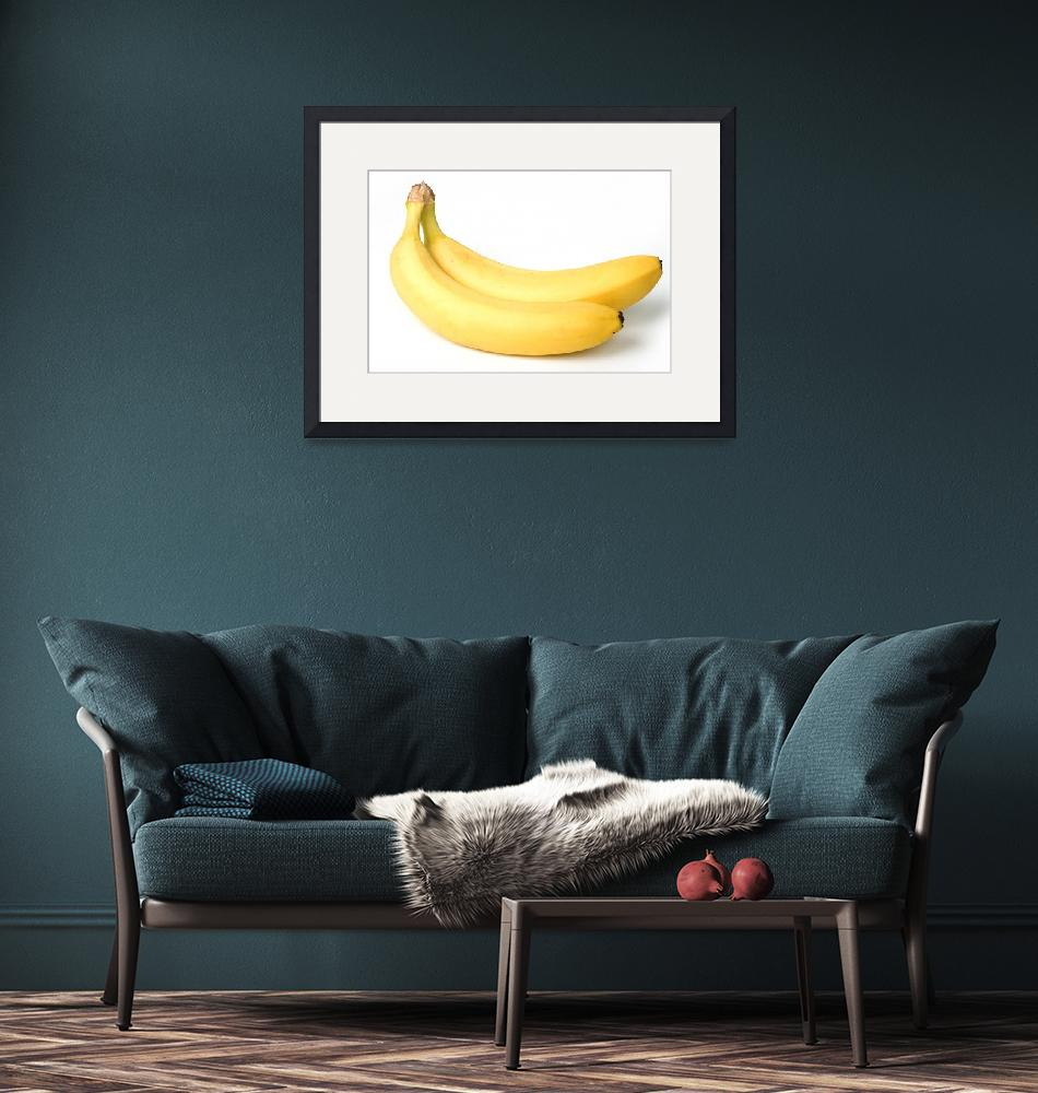 """""""Two bananas on white background""""  (2010) by Tom_K"""
