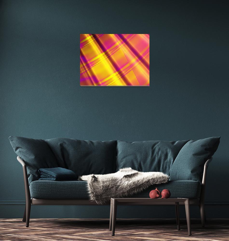 """Fuchsia Fabric""  (2007) by LisaEwingArt"