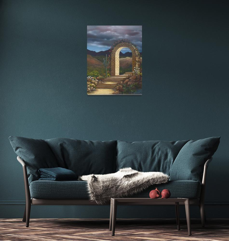 """""""Arched Walkway""""  (2004) by jerrysauls"""