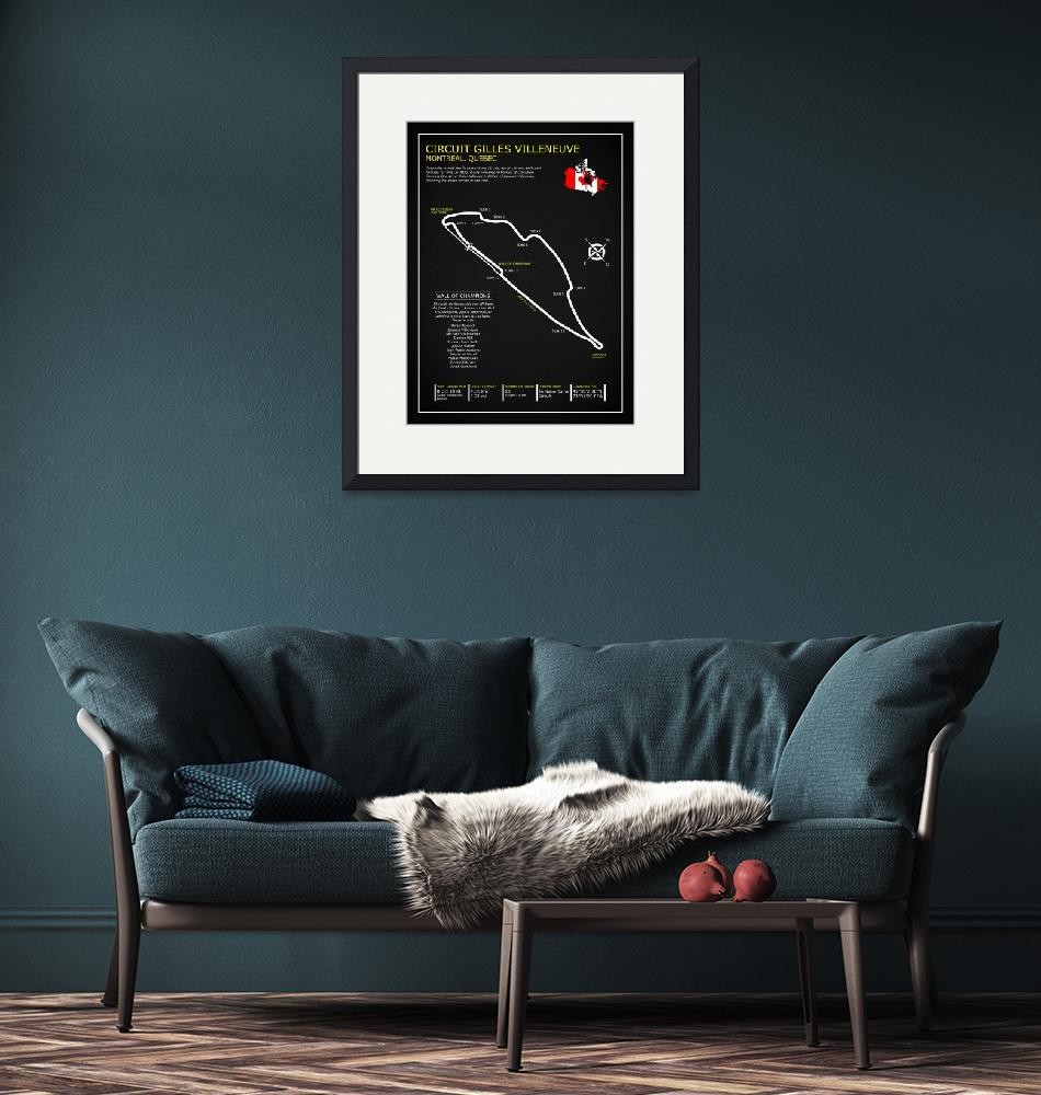 """The Circuit Gilles Villeneuve""  by mark-rogan"