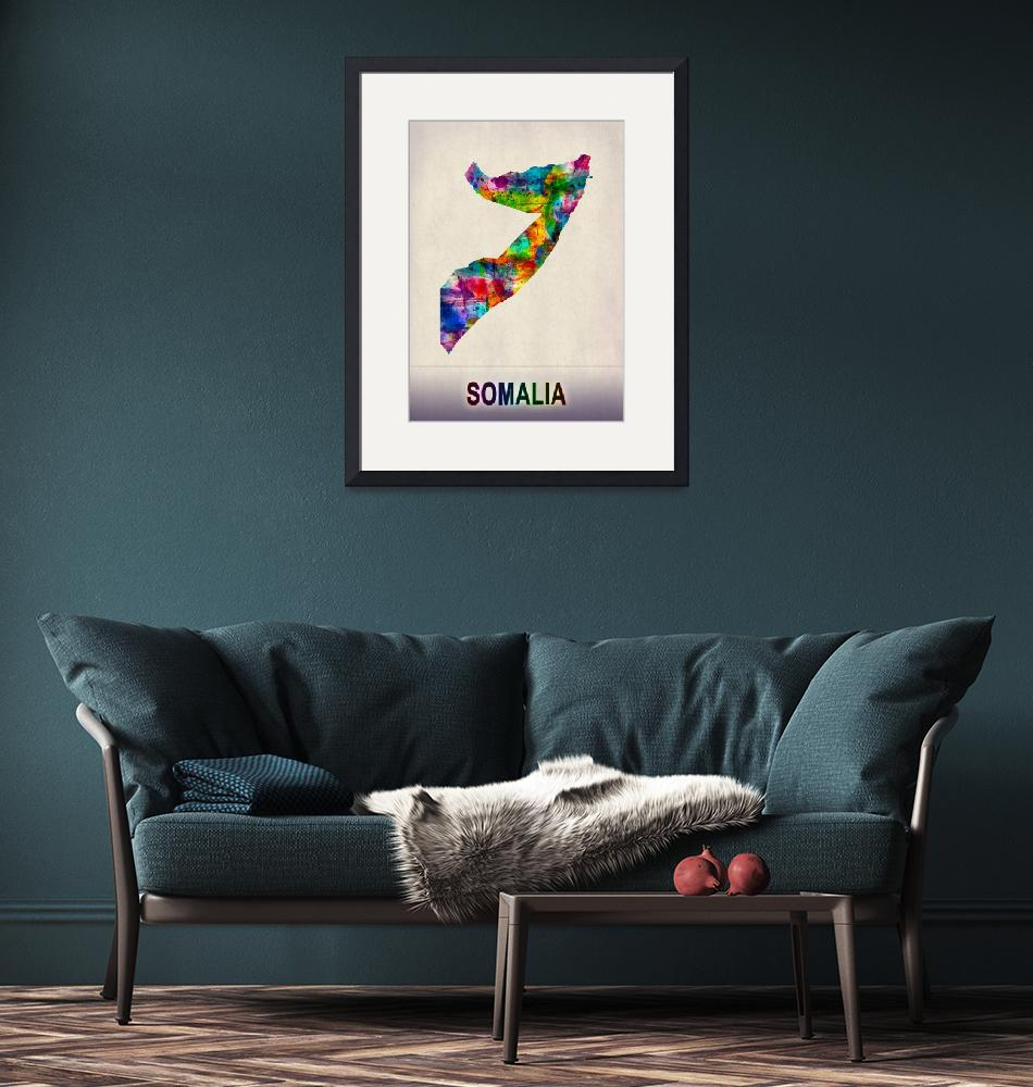 """""""Somalia Map""""  by Towseef"""