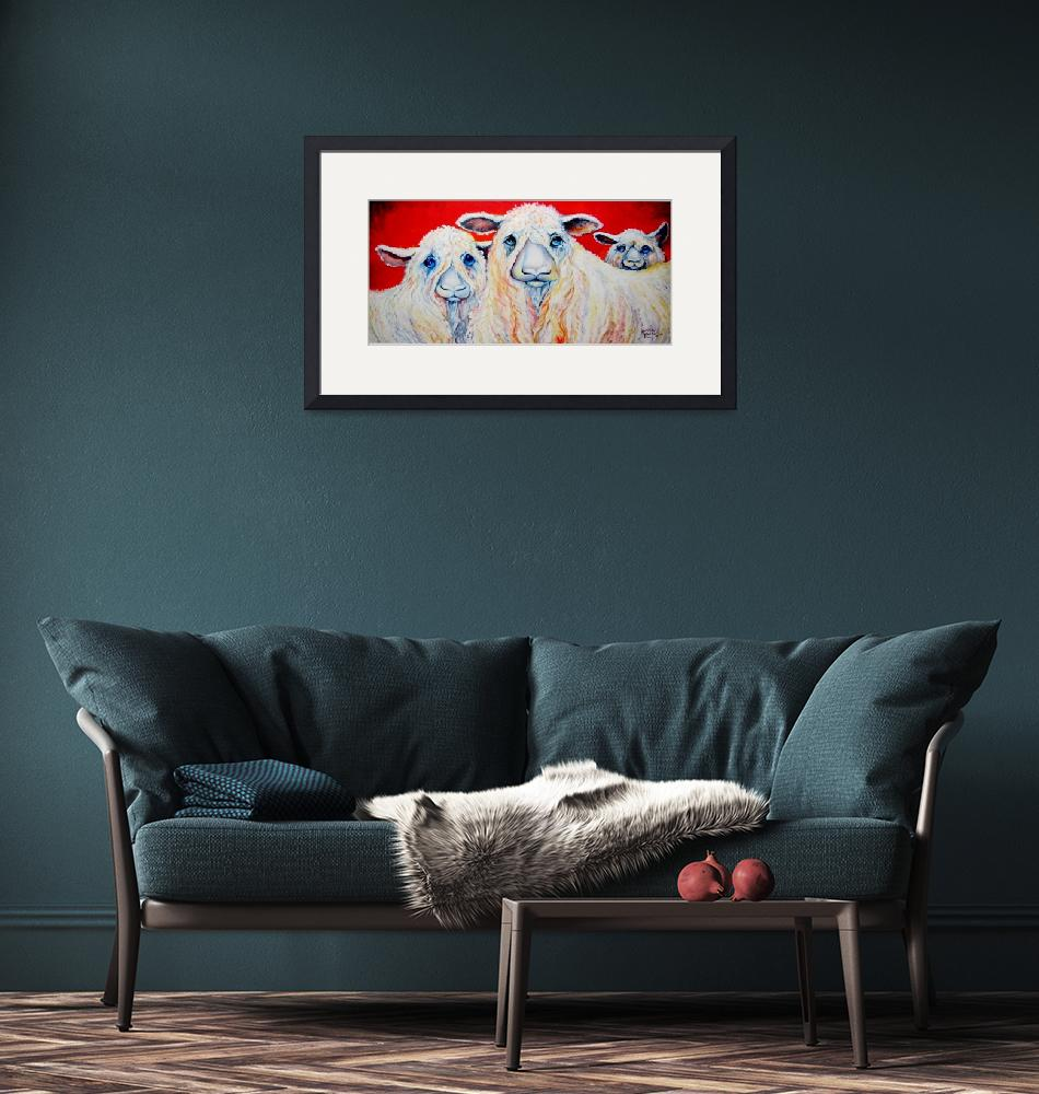 """SWEET WENSLEYDALES SHEEP""  (2009) by MBaldwinFineArt2006"