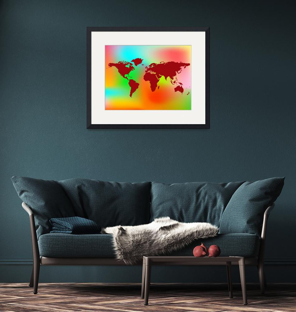 """""""world map and abstract background""""  by robertosch"""