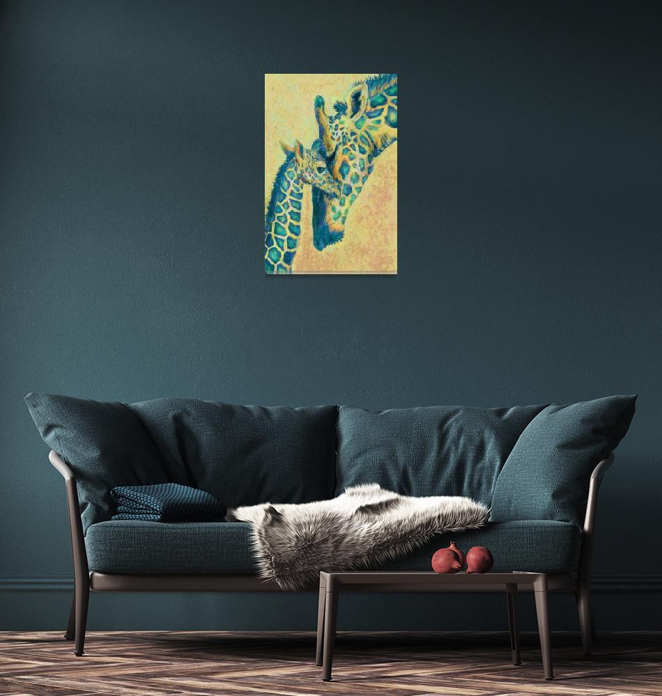 """teal giraffes""  (2013) by pietrastone"