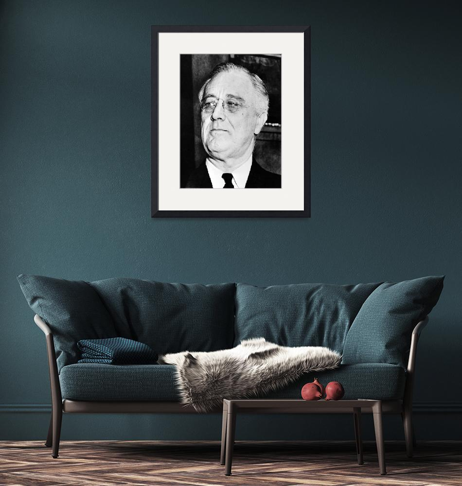 """""""Vintage American history photo of President Frankl""""  by stocktrekimages"""
