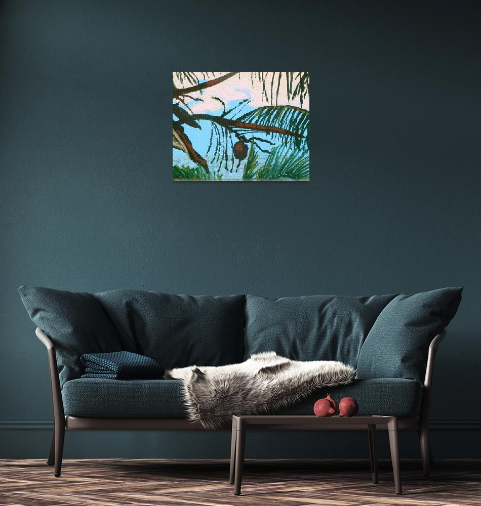 """Caribbean coconut""  (2014) by MargaretBrooks"