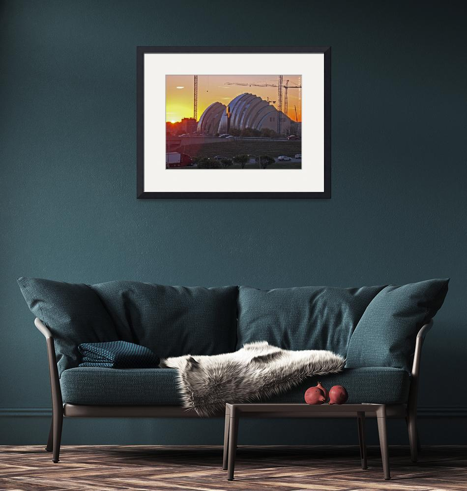 """""""Kauffman Center at Sunrise, 29 Oct 2010""""  by photographybyROEVER"""