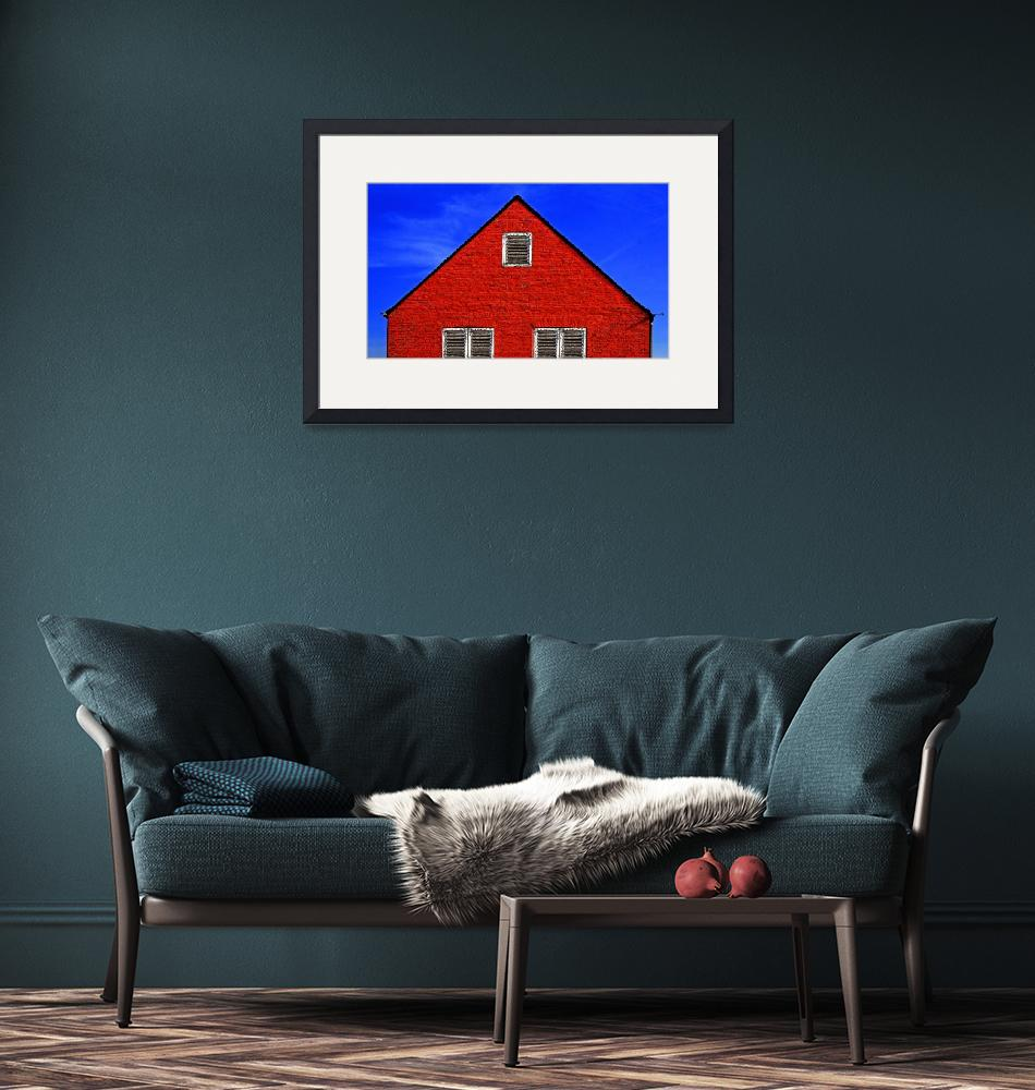 """""""D 69 Red Hut in Blue Sky""""  by johnrochaphoto"""