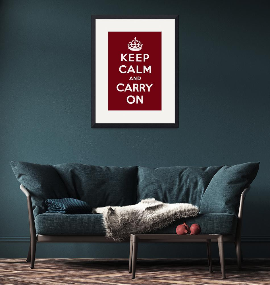 """""""Red Keep Calm And Carry On 2""""  by oldies"""