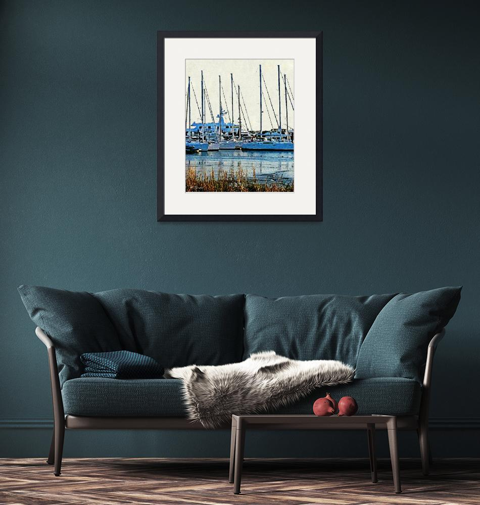 """""""Sailboats on the Ashley""""  (2013) by PamelaCorwin"""