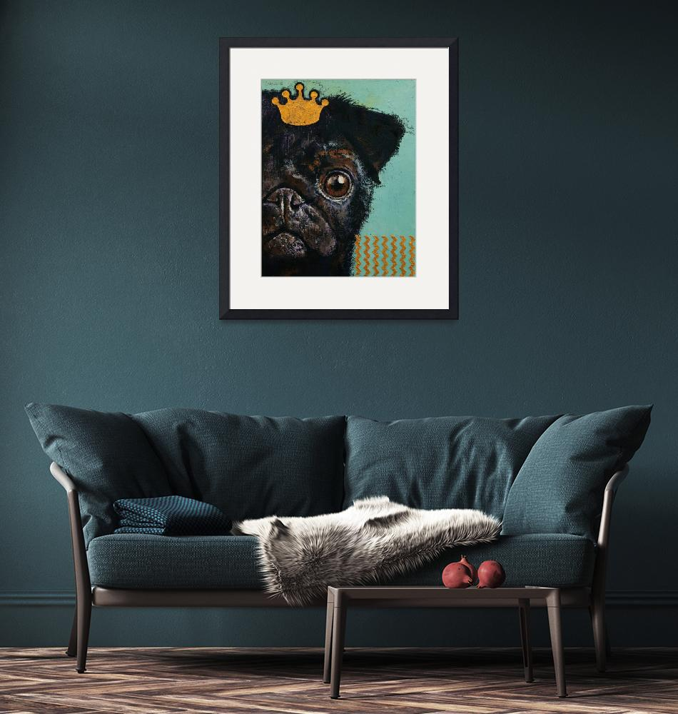 """""""King Pug""""  by creese"""