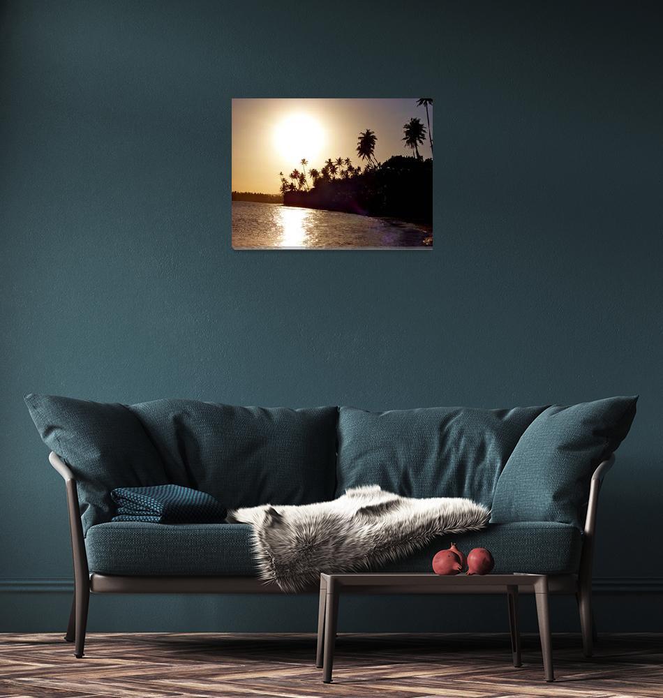 """Fiji Sunset""  (2009) by apavel"