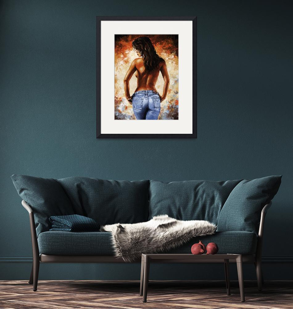 """""""Hot Jeans 02 blue""""  (2012) by EmericoStyle"""