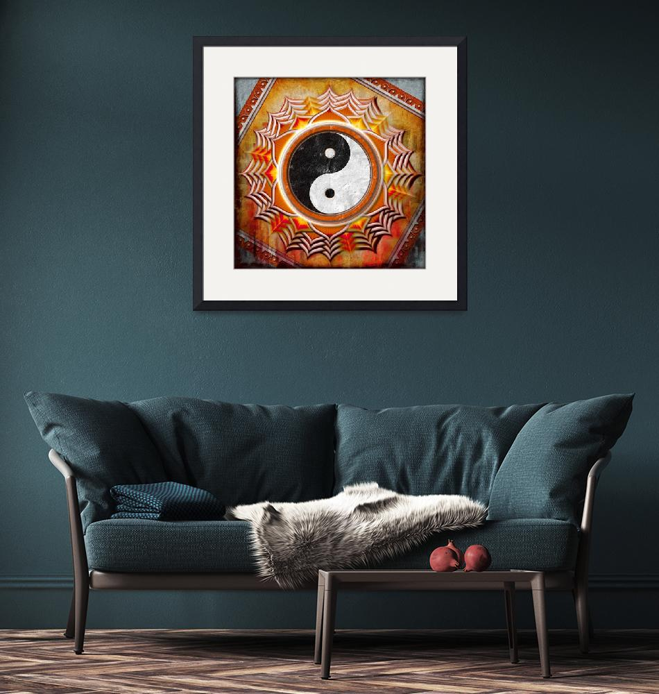 """Yin Yang - The Healing Of The Orange Chakra""  by dcz"