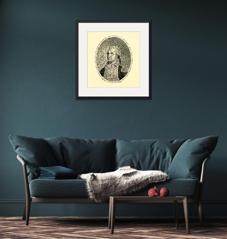 """""""Portrait of George Washington Poster 2""""  by motionage"""