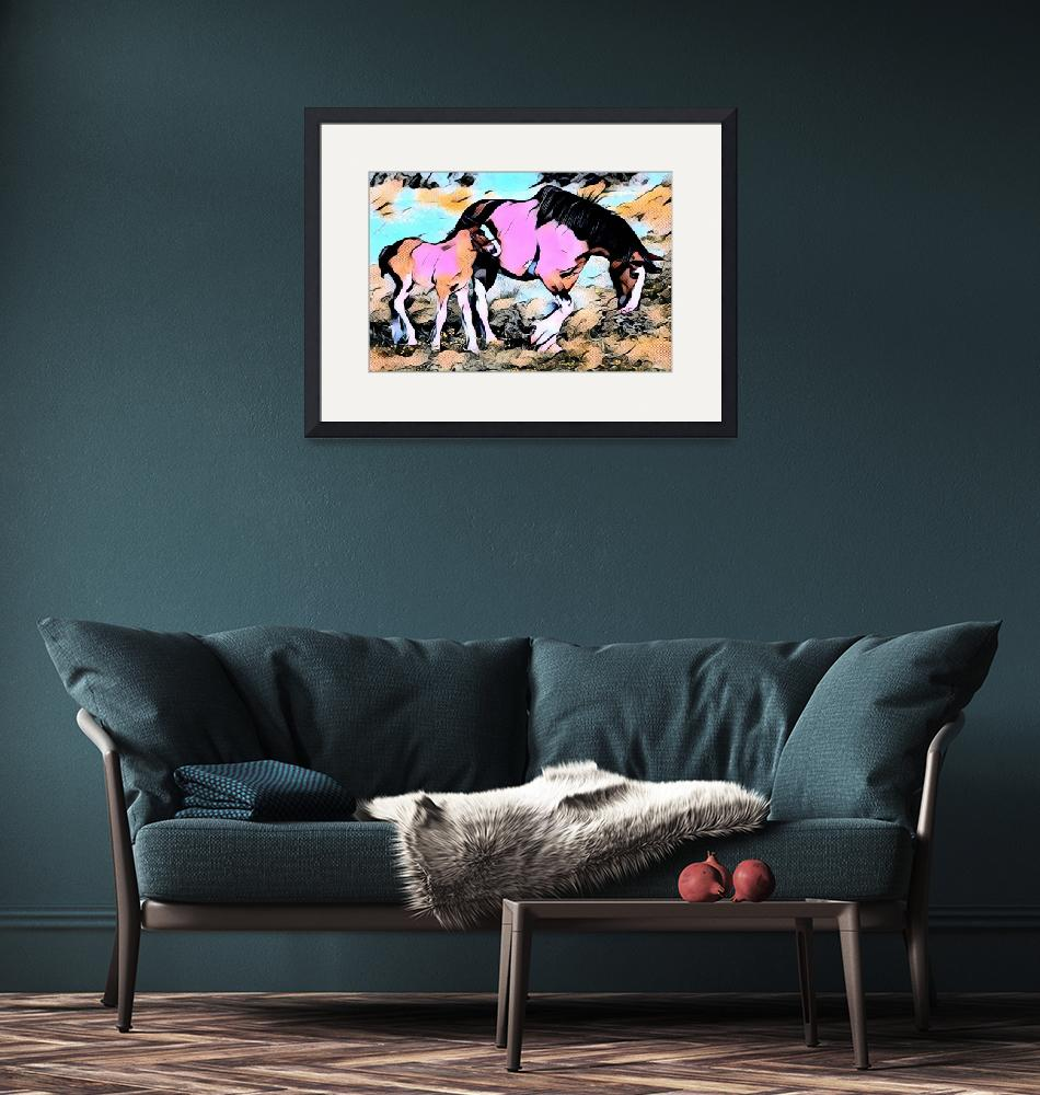 """""""Horse and Pony Comic Pop Art""""  by rogueart"""