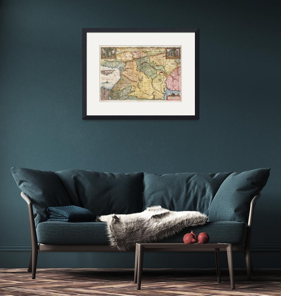 """""""Map of the Holy Land by Visscher""""  by FineArtClassics"""