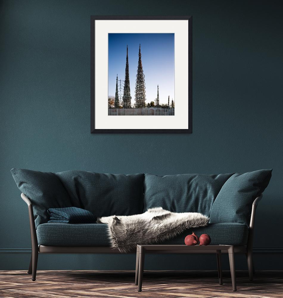 """""""Watts Towers Los Angeles""""  (2011) by dotpattern"""