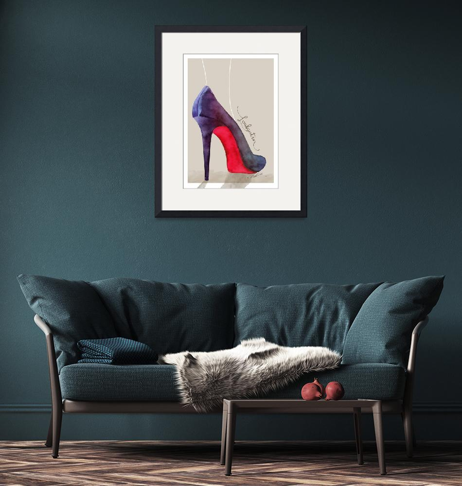 """The Louboutin shoe - fashion poster""  (2015) by nevenaart"
