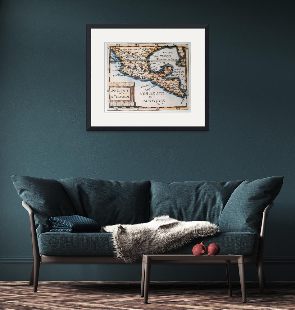 """""""Map of Mexico or New Spain""""  by fineartmasters"""