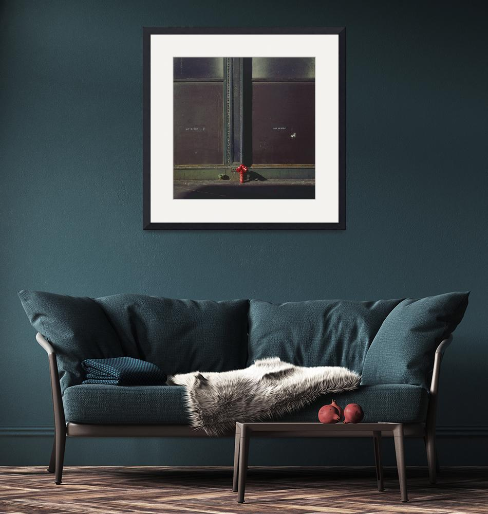 """""""Green Wall and Red Stand Pipe (Vintage Color 1974)""""  (1974) by RussMartinPhotography"""