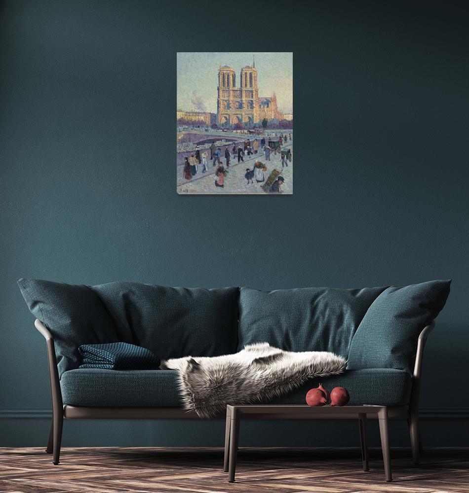 """""""Quai Saint-Michel & Notre Dame by Maximilien Luce""""  by FineArtClassics"""