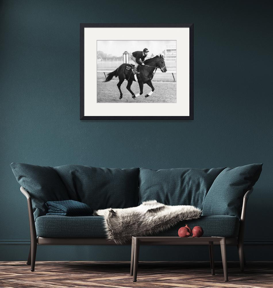 """Seattle Slew Horse Racing #03""  by RetroImagesArchive"