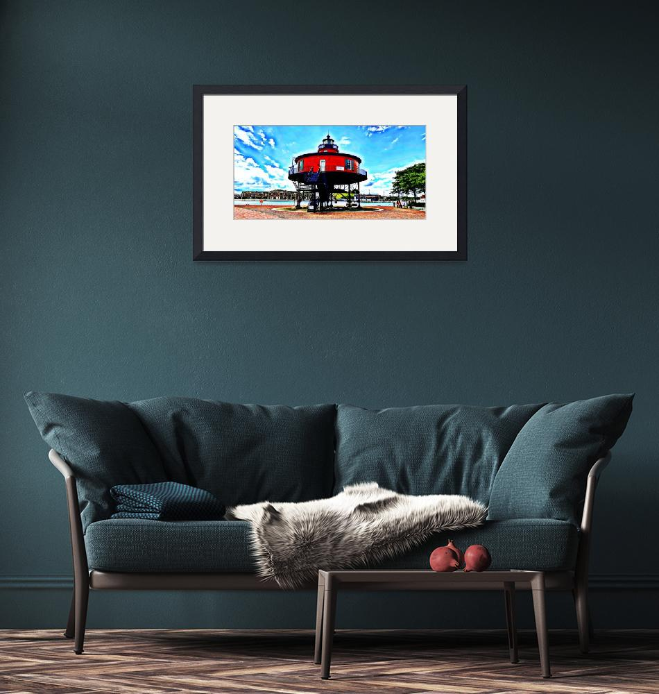 """""""Seven Foot Knoll Lighthouse""""  (2020) by Artsart"""