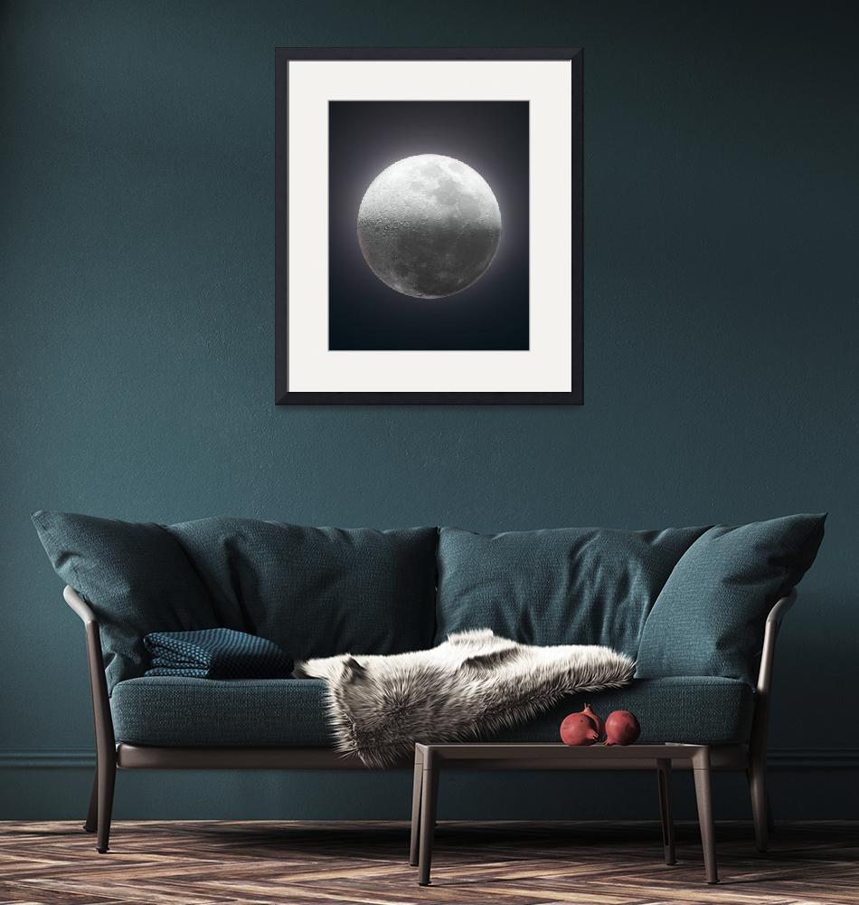 """""""Detailed first quarter Moon""""  (2020) by Astronophilos"""