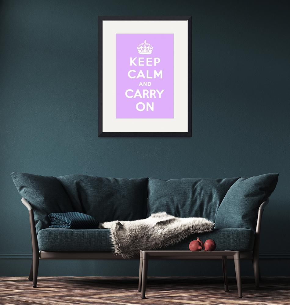 """Purple Keep Calm And Carry On 4""  by oldies"