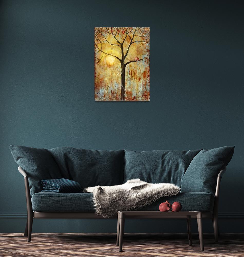 """Love Birds in a Tree""  (2010) by BlendaStudio"