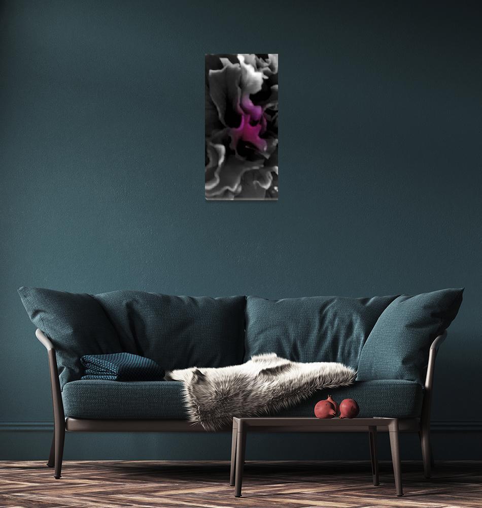 """Purple Petunia     0334 Desaturated Edition""  (2011) by BarbaraLin"