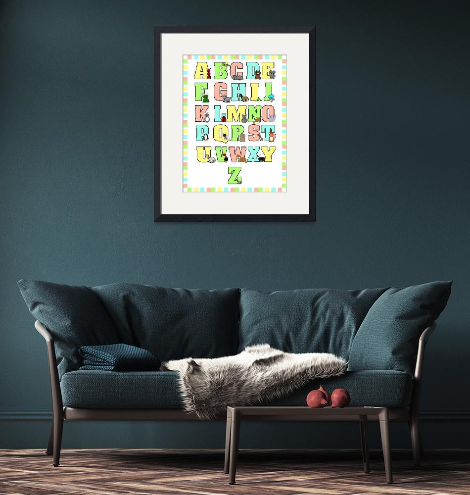 """Animal Alphabet Poster"" (2011) by ValeriesGallery"