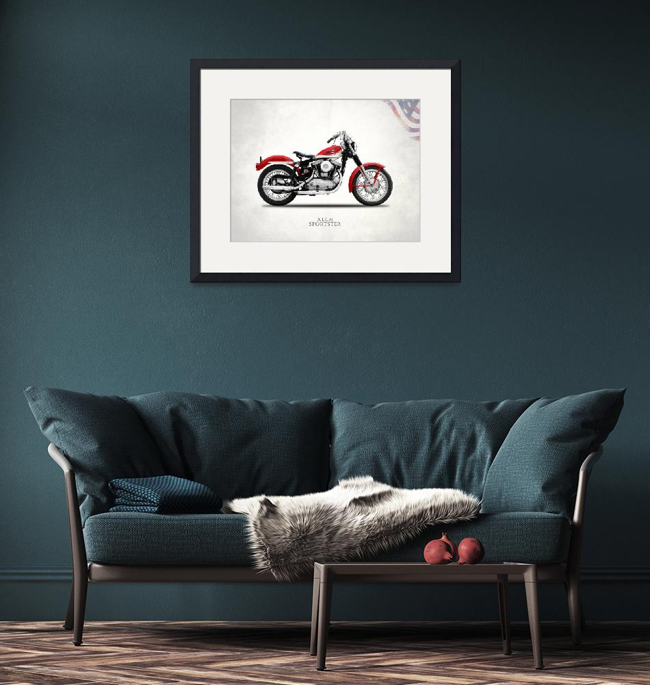 """""""The Vintage Harley XLCH Sportster""""  by mark-rogan"""