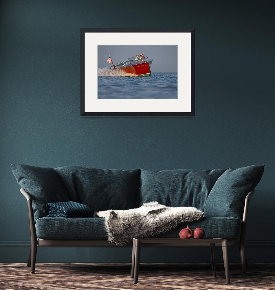 """""""Wooden Boat in Banking Turn""""  by dteetor2"""