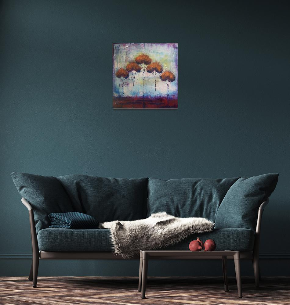 """autumn fire""  (2008) by kristensteinfineart"