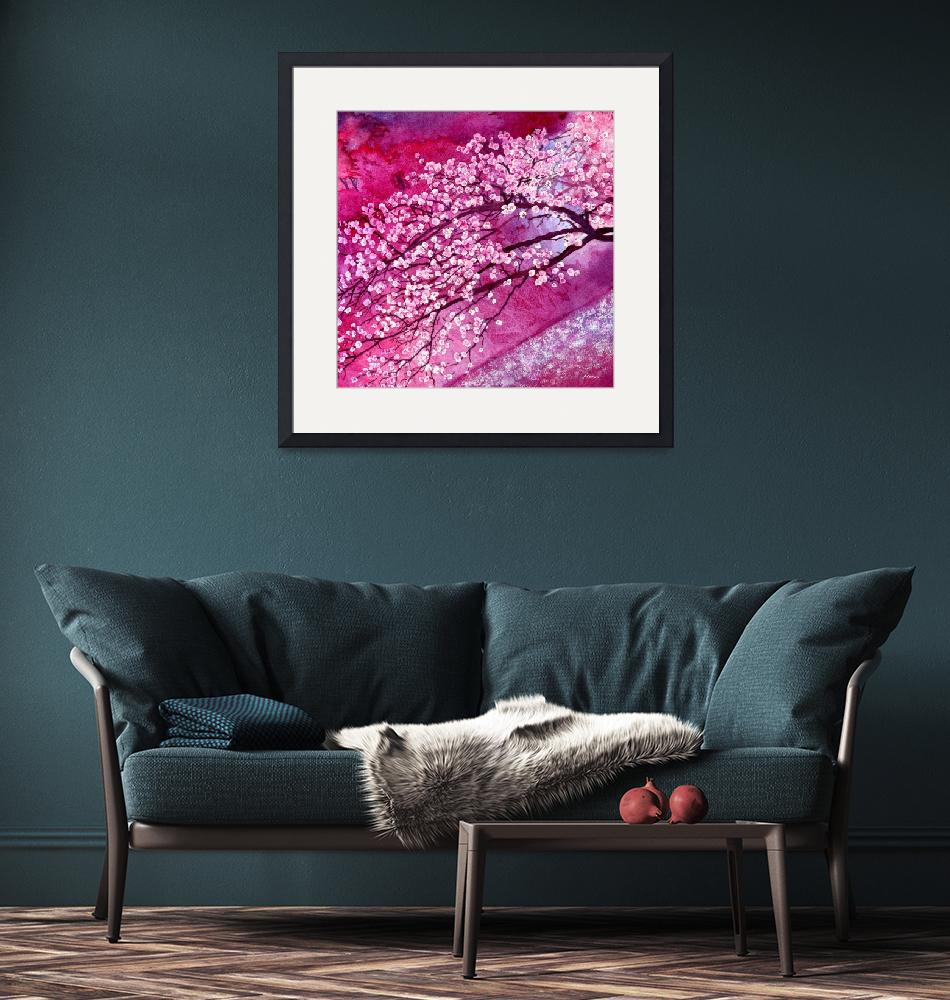 """""""Cherry Blossoms""""  by HaileyWatermedia"""