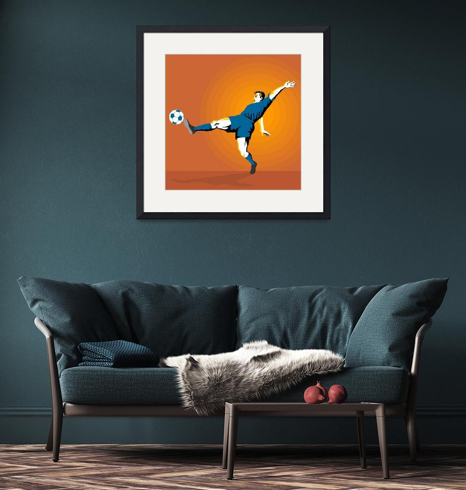 """Soccer Player Kicking""  (2013) by patrimonio"