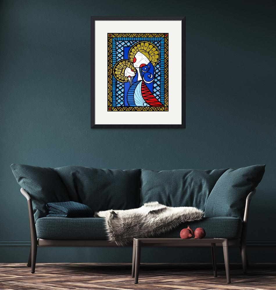 """""""MADONNA  AND CHILD""""  (2007) by rsuazo"""