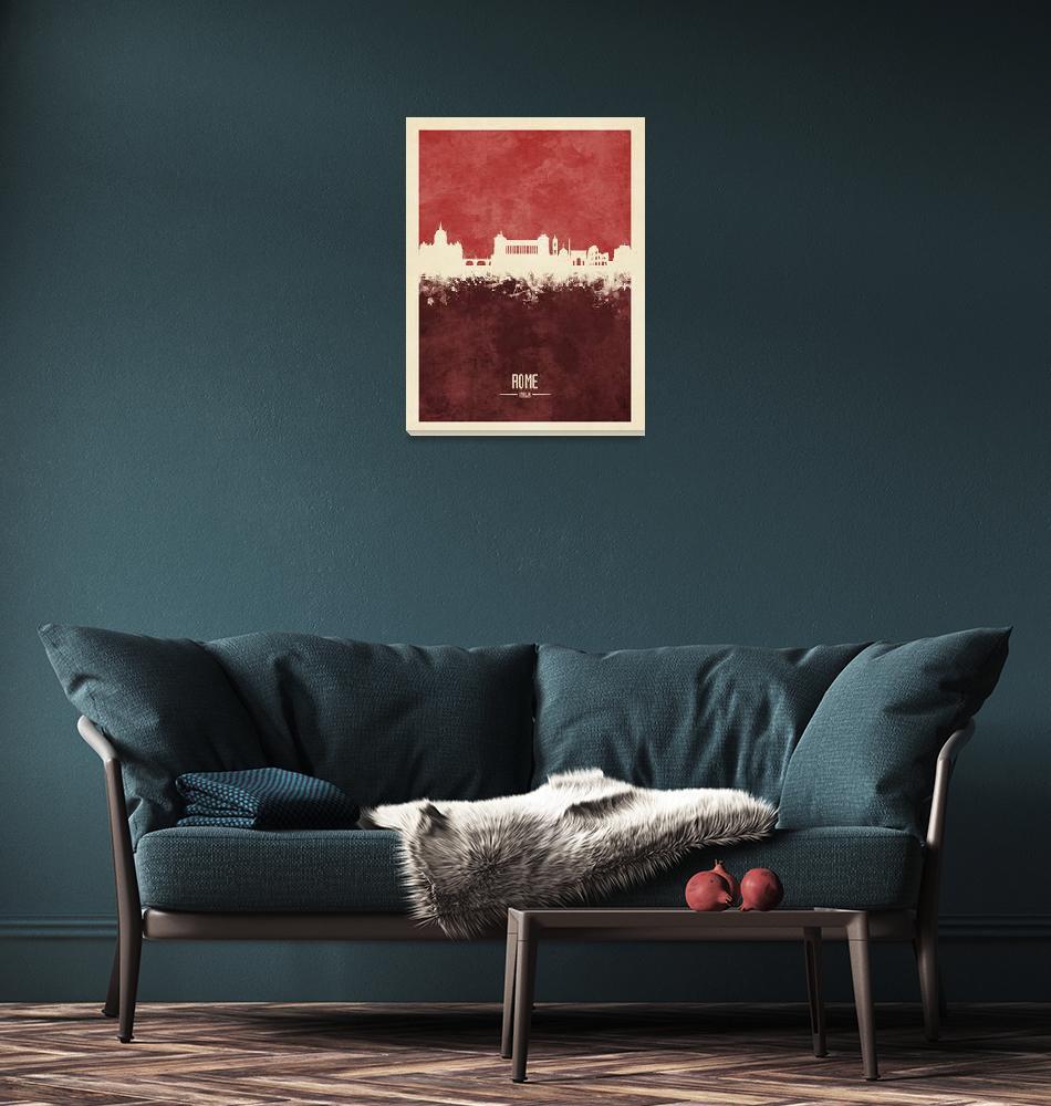 """Rome Italy Skyline""  (2018) by ModernArtPrints"