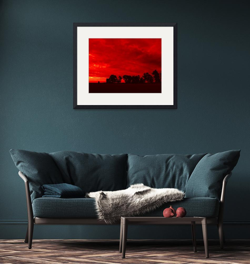 """""""Red Landscape"""" (2007) by MAlexander"""