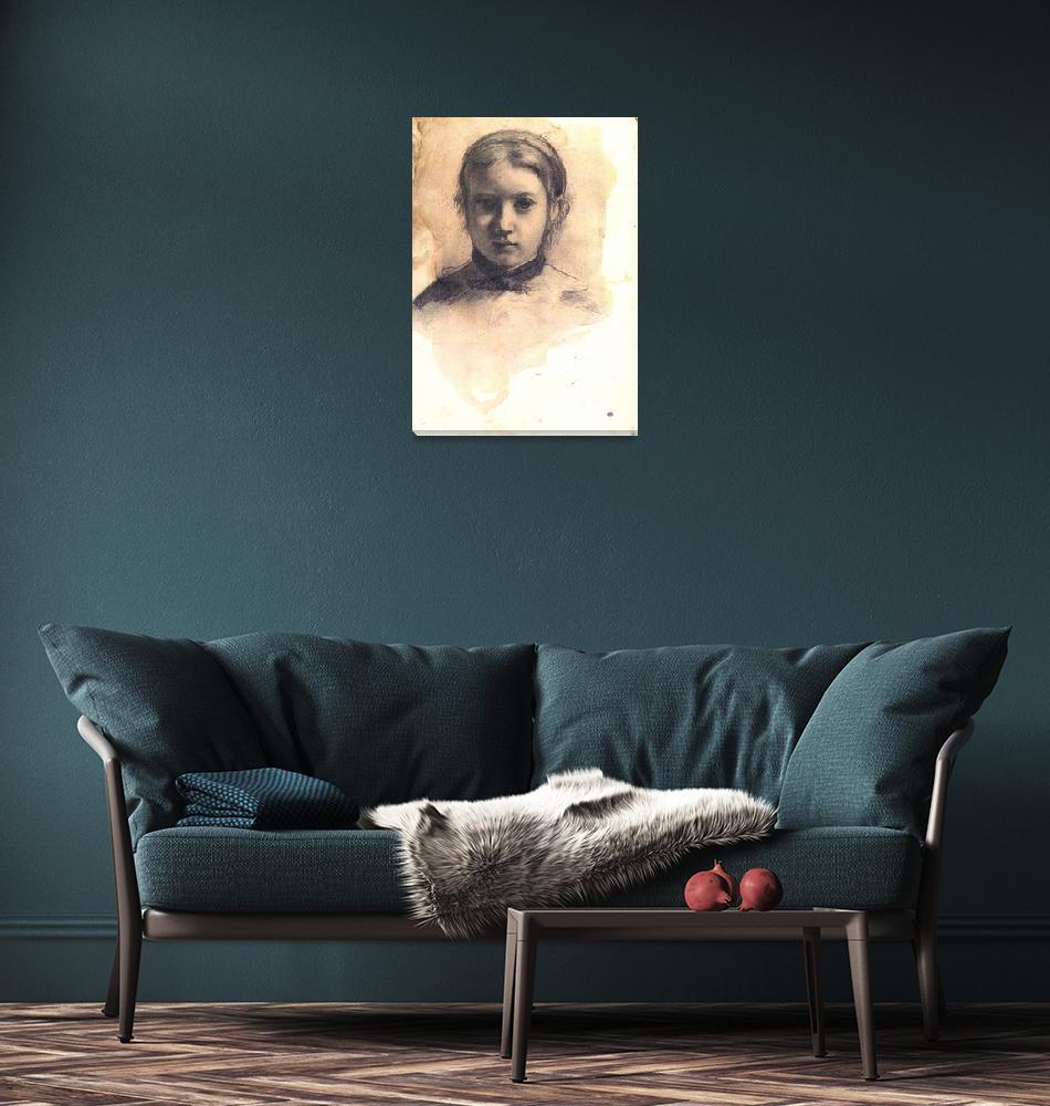 """Portrait of Giovannina Bellelli""  by ArtLoversOnline"